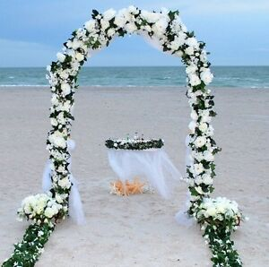 """90"""" WHITE METAL ARCH Wedding  Quinceanera Party Prom Floral Garden Decoration"""