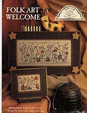 Cross Stitch: Folk Art Welcome - Homespun