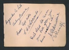 1930 Vintage Golf Autograph Sheet BOOMER/BARBER/HODSON/BUSSON ++ (12 Sigs)