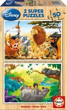 Kinderpuzzle 2 x 50 Teile - Disney: Tierfreunde (aus Holz) von Educa