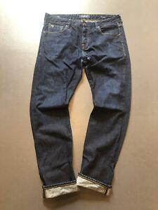Scotch and Soda Ralston Slim Straight  Indigo  Jeans 34 (36)  x 32