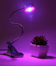 15W Full Spectrum LED Grow Light Desk Clip On Clamp Lamp Hydroponic Plant Indoor