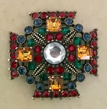 JOAN RIVERS MALTESE CROSS BROOCH - ESTATE PIECE - NEW