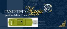 Parted Magic Manager auf 8Gb gebrandmarkt Memory-Stick Größe von Partitionen