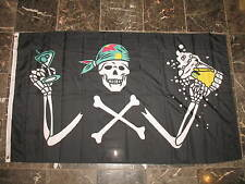 3x5 Pirate With A Beer Party Rough Tex Knitted flag 3'x5' Brass Grommets