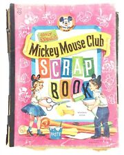 Mickey Mouse Club Scrapbook 1955 Full of Magazine Clippings Children Christmas