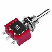 2 Pcs AC 250V 2A 120V 5A SPDT On/Off/On 3 Position Momentary Toggle Switch K7S1