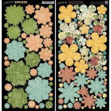 Graphic 45 Time To Flourish Collection Cardstock Die-Cuts Flowers