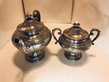 Gorham Shamrock Tea Pot Sugan Ball Set Sterling Silver 1390 Grams.