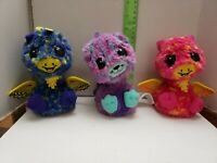 "Spinmaster Hatchimal Yellow, pink, blue 5"" Interactive Hatched Lot of 3"