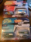 Johnny Lightning Tow & Go Lot Of (2) 1955 Ford Panel Delivery Trailer NICE 🎁