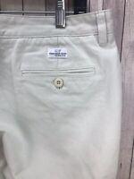 Vineyard Vines Club Pant 100% Cotton White Men's Casual Pants Size (34 x 30)