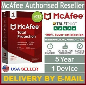 McAfee Total Protection Antivirus 2021 (5 Year 1 Device) Win, Mac, Android, iOS