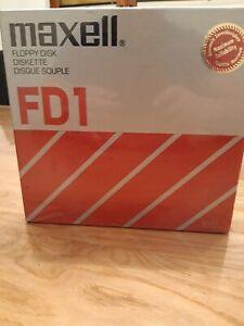 Maxell Floppy Disk NEU OVP 10 Stk. 128 Bytes 8 Zoll Vintage Rarität Alt