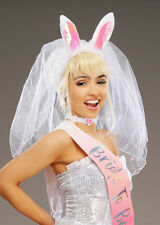 Bride To Be Top Hat /& Veil Bridal Hen Stag Fancy Dress Accessory Cylinder