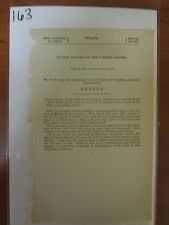 Vintage government report 1874 relief of Sarah H Redmond Board of Audit  #163