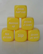 2PCS New  Funny Party Drink Newest Decider Dice Games Pub Fun Die Toy Gift   H+4