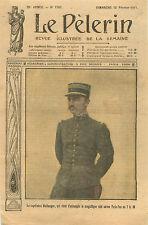 Portrait Capitaine Pilote Bellanger Uniforme Raid Aérien Paris 1911 ILLUSTRATION