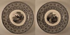 2 Assiettes en grisaille VIEILLARD Bordeaux - David JOHNSTON - 19ème