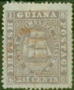 British Guiana 1875 12c Lilac SG113 P.15 Fine Lightly Used Ex-Fred Small