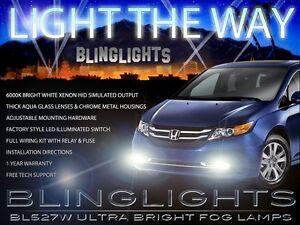 Xenon Halogen Fog Lamps Driving Light Kit for 2014-2017 Honda Odyssey 14 15 16