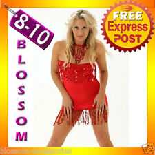 2118 Red Dance Party Clubwear Strapless Dress 6 8 10