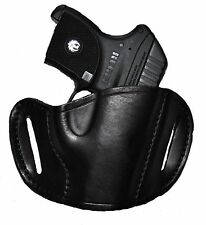 Black Leather Belt slide Gun Holster for S&W 40VE,9VE