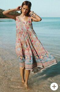 Spell And Gypsy Collective Designs Seashell Babydoll Midi Dress XXS