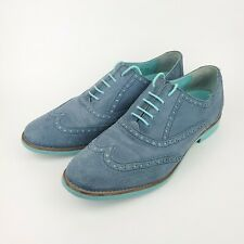 Cole Haan Blue Suede Wingtip Oxfords Mens 9 Shoes D36736