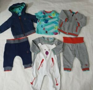 3-6 months boys Ted baker bundle sleepsuit outfits tracksuit please read (G)