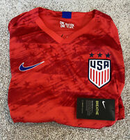 Mens Size Small Nike USA Soccer Away Jersey Red AJ4355-689