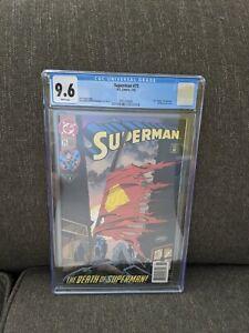 "Superman #75 ""Death of Superman"" Newsstand Edition ComicCGC 9.6 Slab"