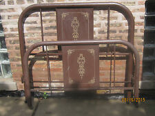 Antique Metal Bed Headboard and Footboard No Rails Full Size Bed