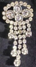 And Five Strands Of Drops Vintage Brooch With Large Central Stones