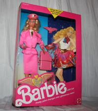 Barbie Mattel Flight Time Pilot Glamorous 1989 Nrfb Pink