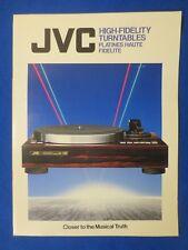 JVC QL-A75 QL-Y66F QL-L2 L-L1 QL-F320 L-E33 L-E22 & More Sales Brochure Catalog