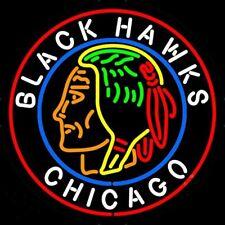 """New Chicago Blackhawks NHL Neon Light Sign 24""""x20"""""""