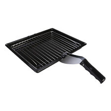 Durable Complete Cooker Grill Pan Rack Tray & Handle For Beko Ovens 280 X 355mm