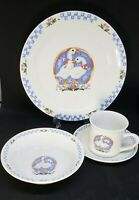 4-pc Place Setting Gibson Ribboned Geese Dinnerware - Plate, Bowl, Saucer, Cup