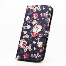 2016 Luxury Flip Wallet Magnetic Leather Case Cover With Stand for PHONES Motorola Moto G 2nd Gen Style 9 Rose