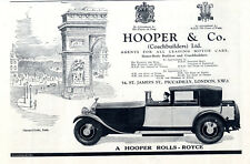 A HOOPER ROLLS-ROYCE LONDON PICCADILLY Historische Annonce 1931