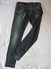 Miss Sixty Blue Jeans Stretch W33/L34 Denim slim fit extra low waist pipe leg
