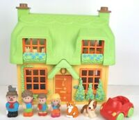 Early Learning Centre Happyland Rose Cottage With Car Figures & Working Sounds