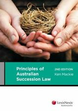 Principles of Australian Succession Law by Ken Mackie (Paperback, 2013)