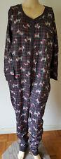 Dreams Co 1-Piece Unionsuit PJS Pajamas Womens Plus 22W/24W Scotty Dog Black