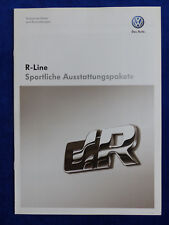 VW R-Line Ausstattungspakete - Tiguan Touran Passat - Prospekt Brochure 09.2008