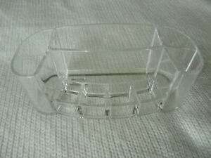 Caboodles Couture Tray Clear Acrylic Makeup Storage Holder 8 compartments