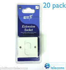 20 COMPACT BT TELEPHONE EXTENSION SECONDARY SOCKET WITH SCREW TERMINALS 55MM