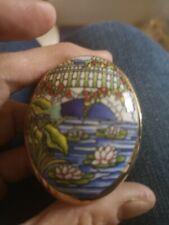 Trinket Pot Lily Pond Museum Collections Ltd Fine Bone China