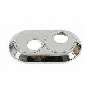 15mm-28mm Double PVC Chrome Radiator Plastic Water Pipe Cover Collar Rose